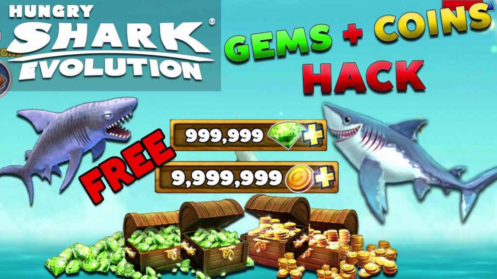 hungry shark evolution unlimited coins and gems hack